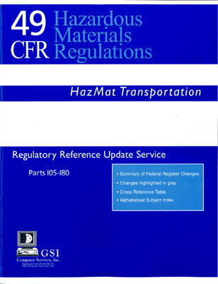 49 CFR Hazardous Materials Regulatory Reference