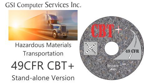 49 CFR Computer Based Training (CBT) CD-ROM